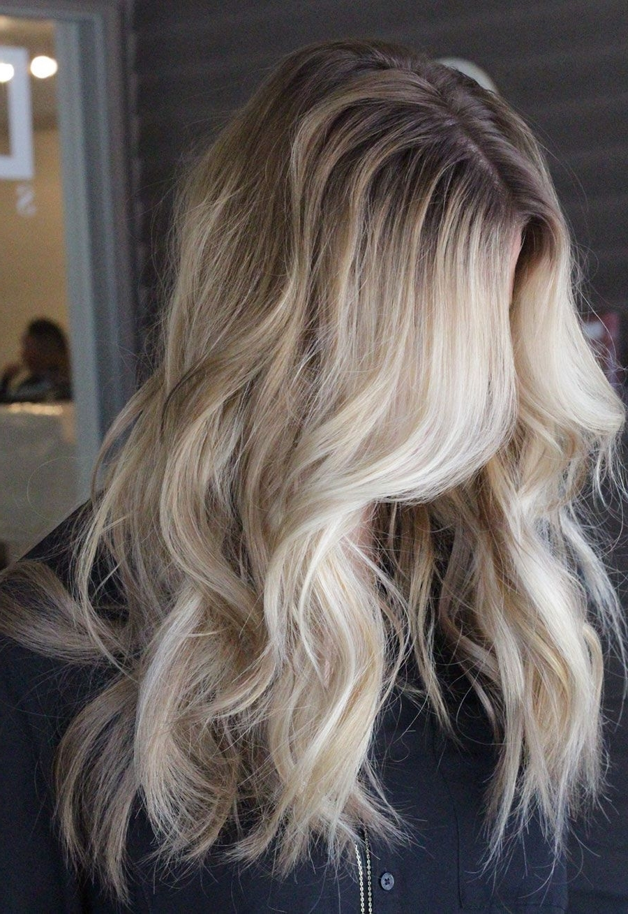 Beautiful Blonde Hairstyles To Show Off Pertaining To Trendy Soft Waves Blonde Hairstyles With Platinum Tips (View 8 of 20)