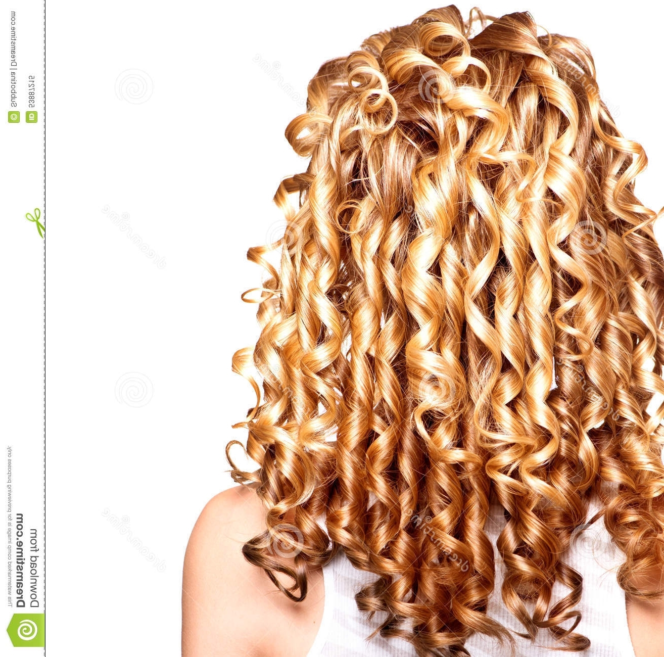 Beauty Girl With Blonde Curly Hair Stock Image – Image Of Lush Inside Most Recently Released Lush And Curly Blonde Hairstyles (View 2 of 20)