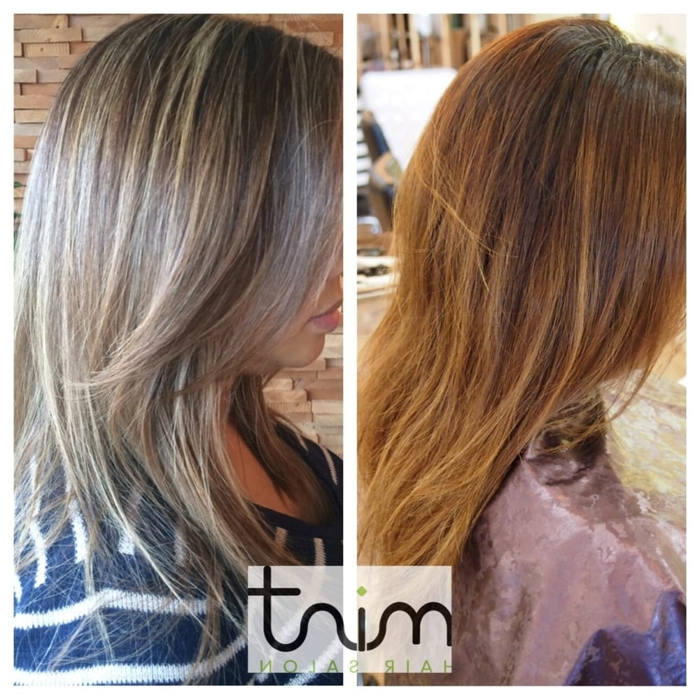 Before & After: Ash Blonde Half Head Highlights – Yelp Intended For Newest Ash Blonde Half Up Hairstyles (View 6 of 20)
