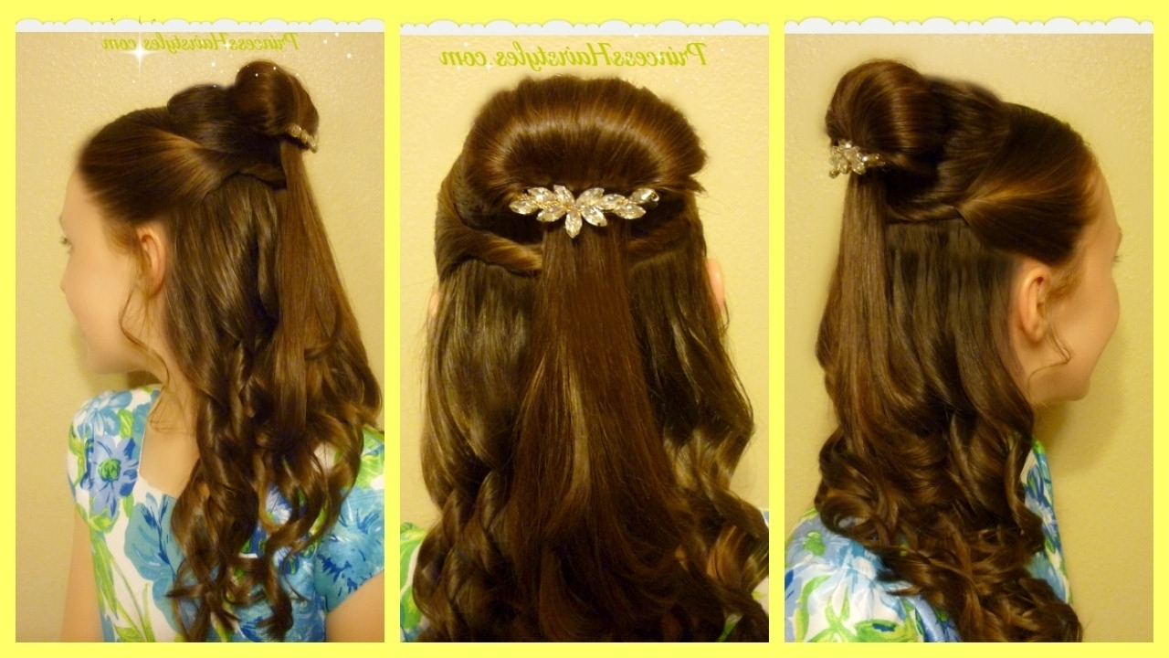 Belle Hairstyle Tutorial, Beauty And The Beast Inspired – Youtube Inside Most Current Princess Tie Ponytail Hairstyles (View 6 of 20)