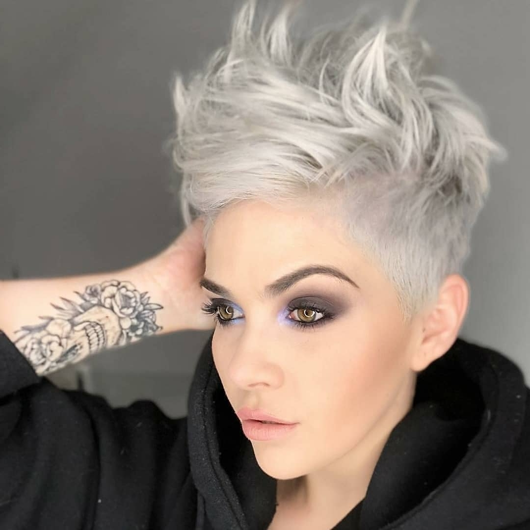 Best And Newest Bleach Blonde Pixie Hairstyles In Top 10 Most Flattering Pixie Haircuts For Women, Short Hair Styles (View 15 of 20)