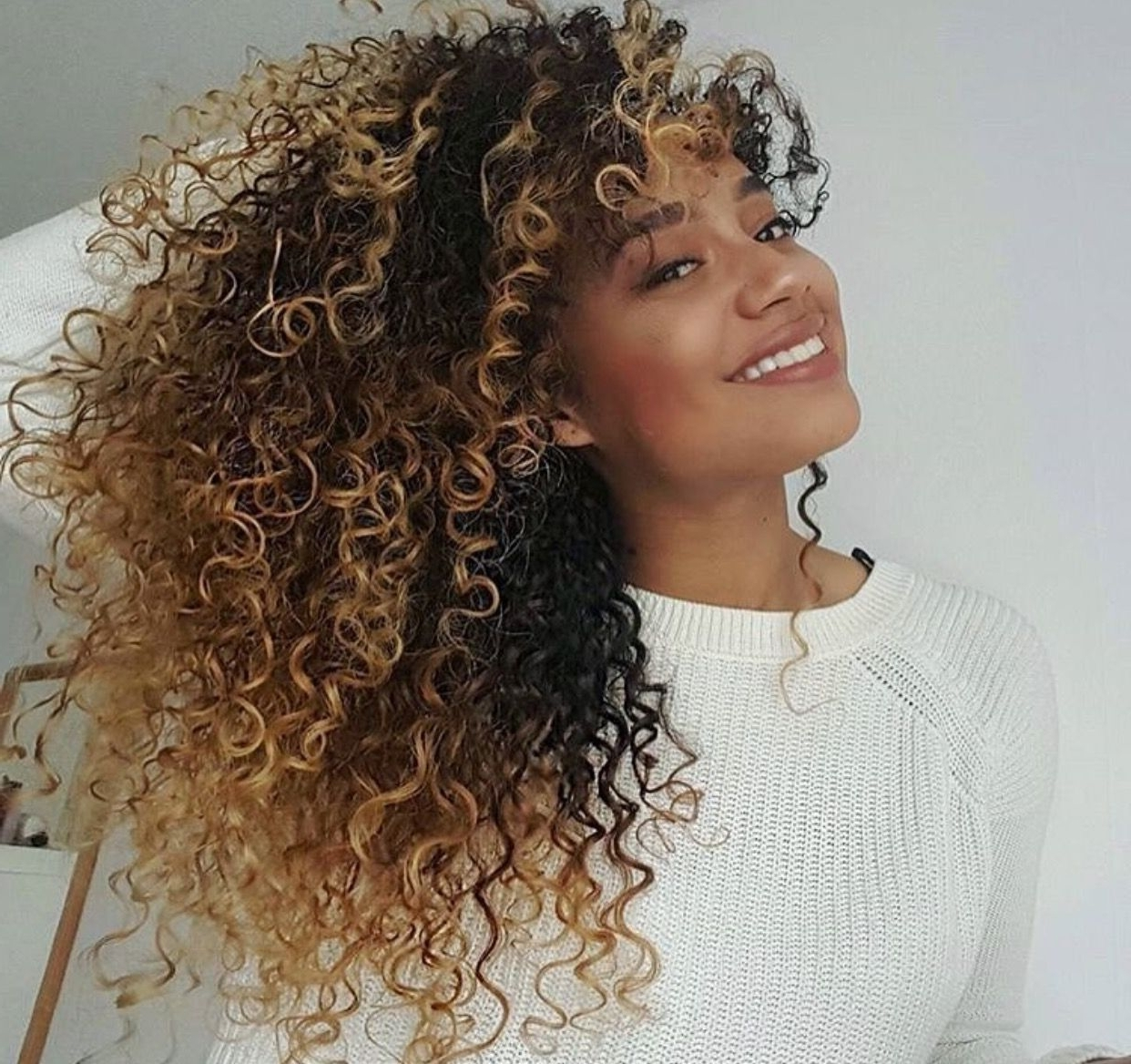 Best And Newest Brown To Blonde Ombre Curls Hairstyles With Regard To Curly Hair Goals (View 7 of 20)