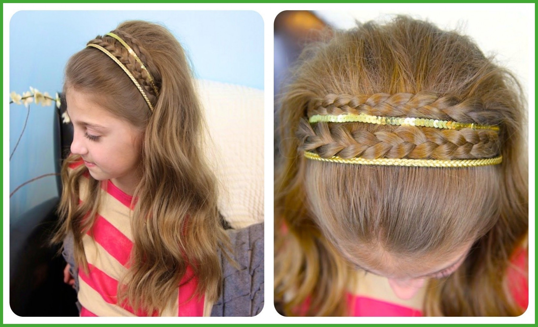 Best And Newest Double Braided Hairstyles Within Braid Hairstyles Headband Double Braid Sparkly Headband Cute Girls (View 17 of 20)