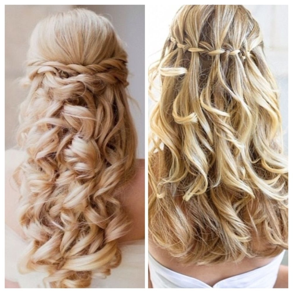Best And Newest Double Floating Braid Hairstyles In On The Left: Thin Ladder Braid With Thin Loose Soft Curls (View 5 of 20)