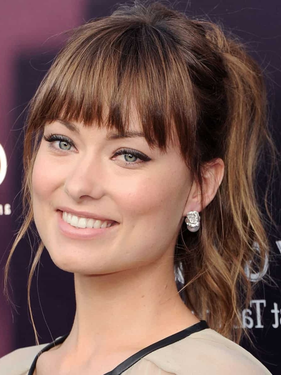 Best And Newest Glamorous Pony Hairstyles With Side Bangs In Ponytail With Bangs: 10 Styles To Turn Drab To Fab (View 4 of 20)