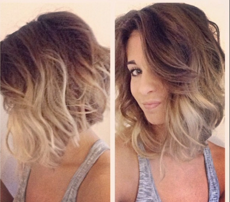 Best And Newest Medium Blonde Balayage Hairstyles With Hair Color : Adorable Blonde Ombre Medium Hair Brown To Images About (View 8 of 20)