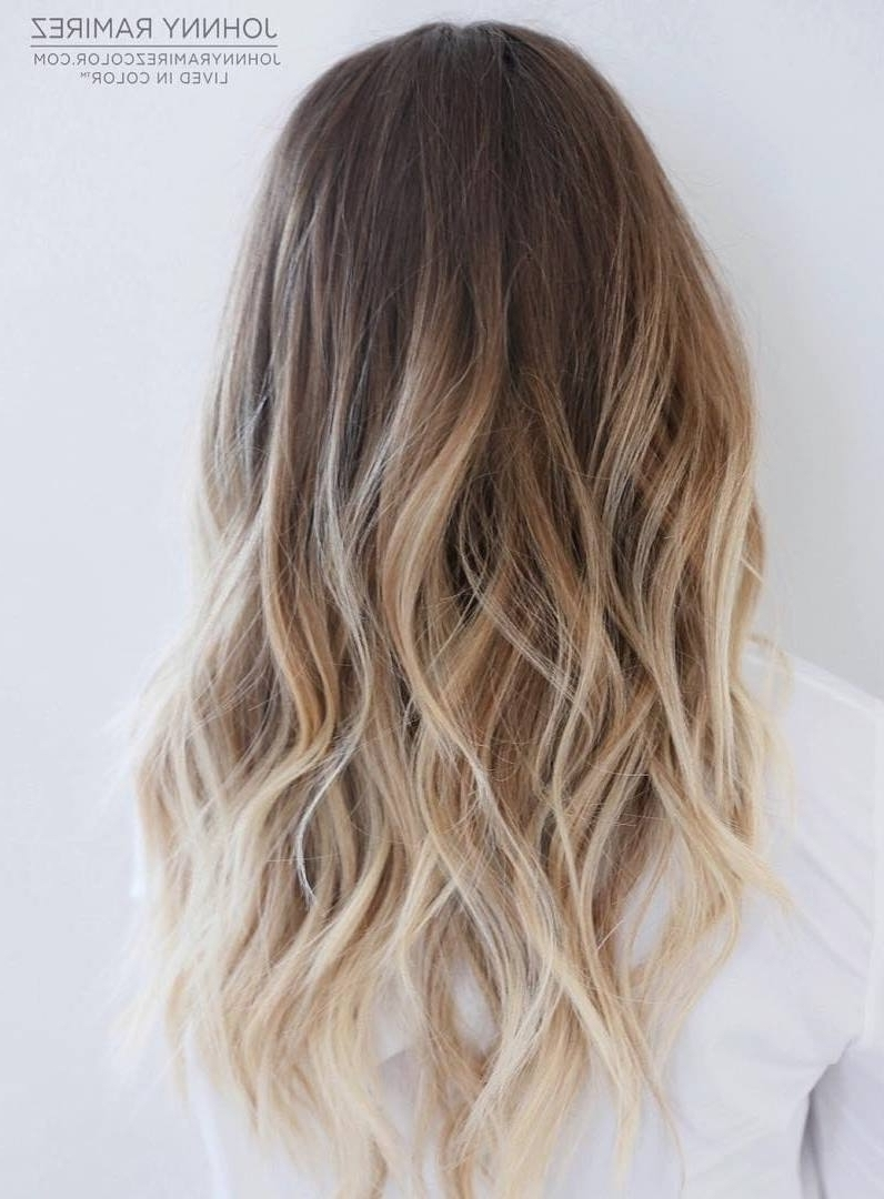 Best And Newest Shoulder Length Ombre Blonde Hairstyles Regarding Hair Color : Dark Blonde Ombre Medium Hair Platinum Brown To Length (View 4 of 20)