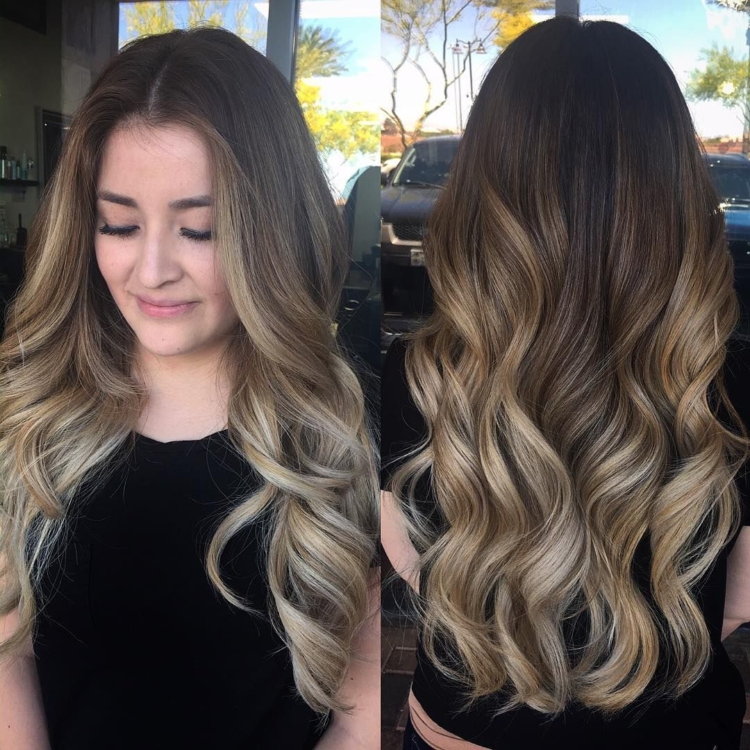 Best And Newest Soft Flaxen Blonde Curls Hairstyles For Smoky Balayage Wavy Hairstyle For Long Hair Half Up Wavy Bob Would (View 7 of 20)
