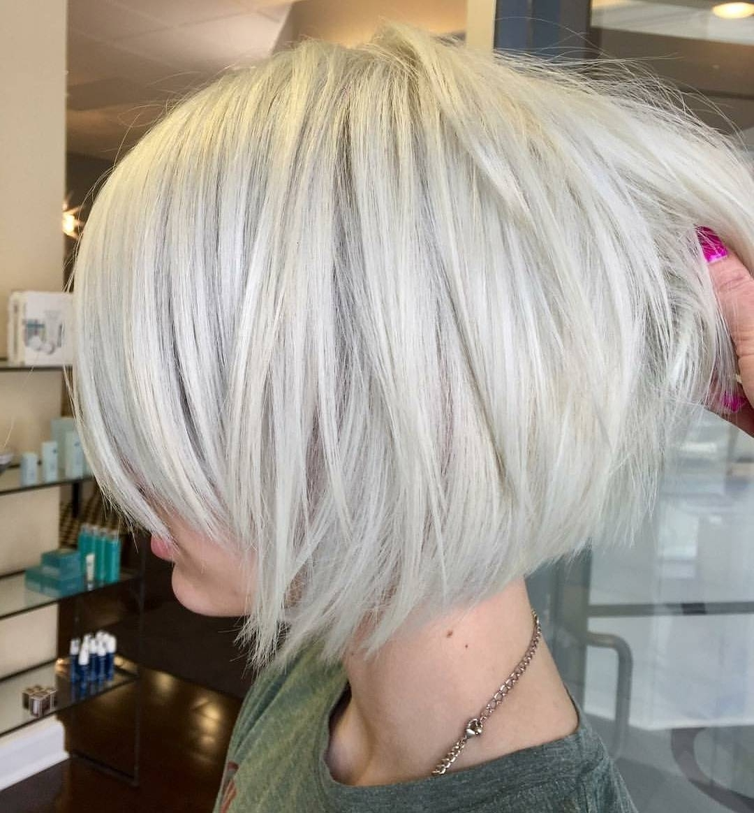 20 Ideas Of Stacked White Blonde Bob Hairstyles