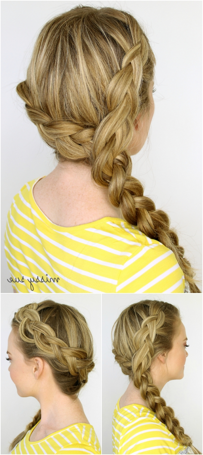 Best And Newest Two Braids In One Hairstyles Throughout Two Dutch Braids 6 Hairstyles (View 4 of 20)