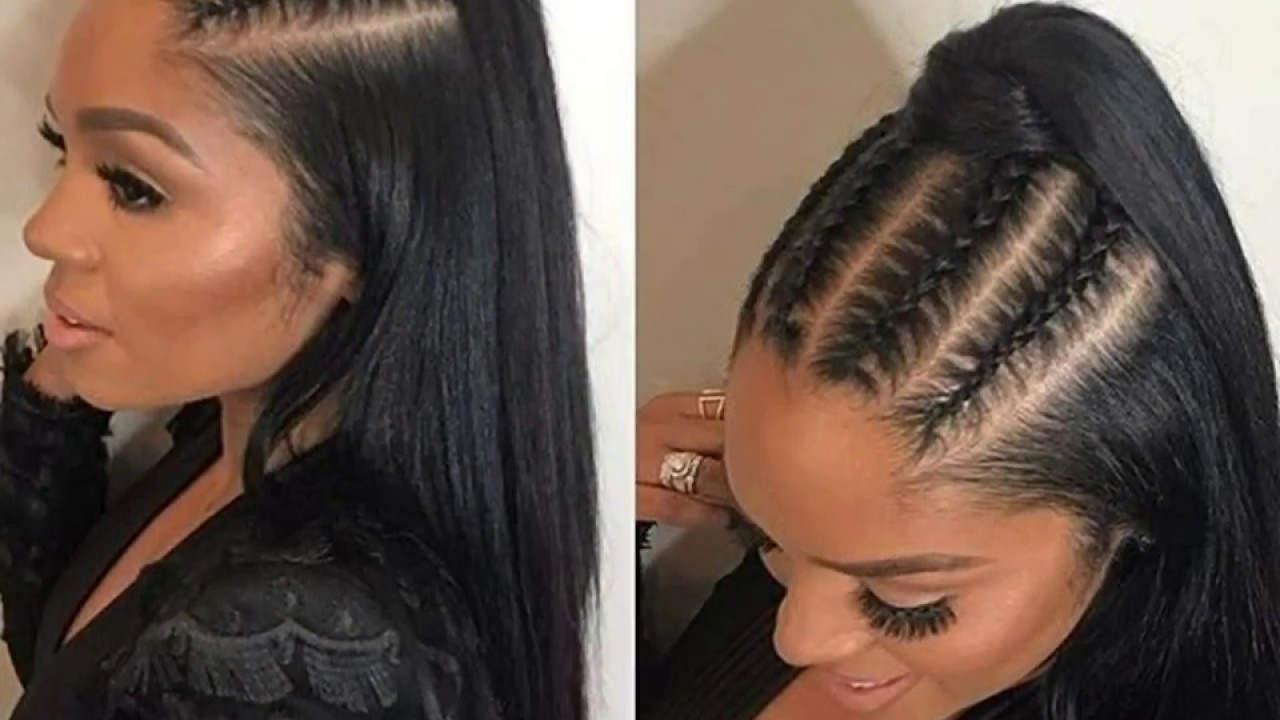 Best Ponytail Hairstyles For Black Hair – Youtube Regarding Most Current High Black Pony Hairstyles For Relaxed Hair (View 4 of 20)