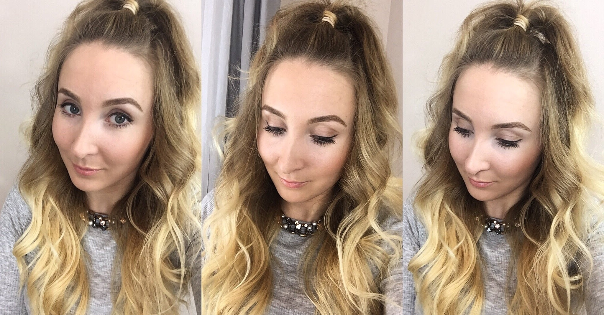 Big Half Up Ponytail – Youtube In Well Known Half Ponytail Hairstyles (View 13 of 20)