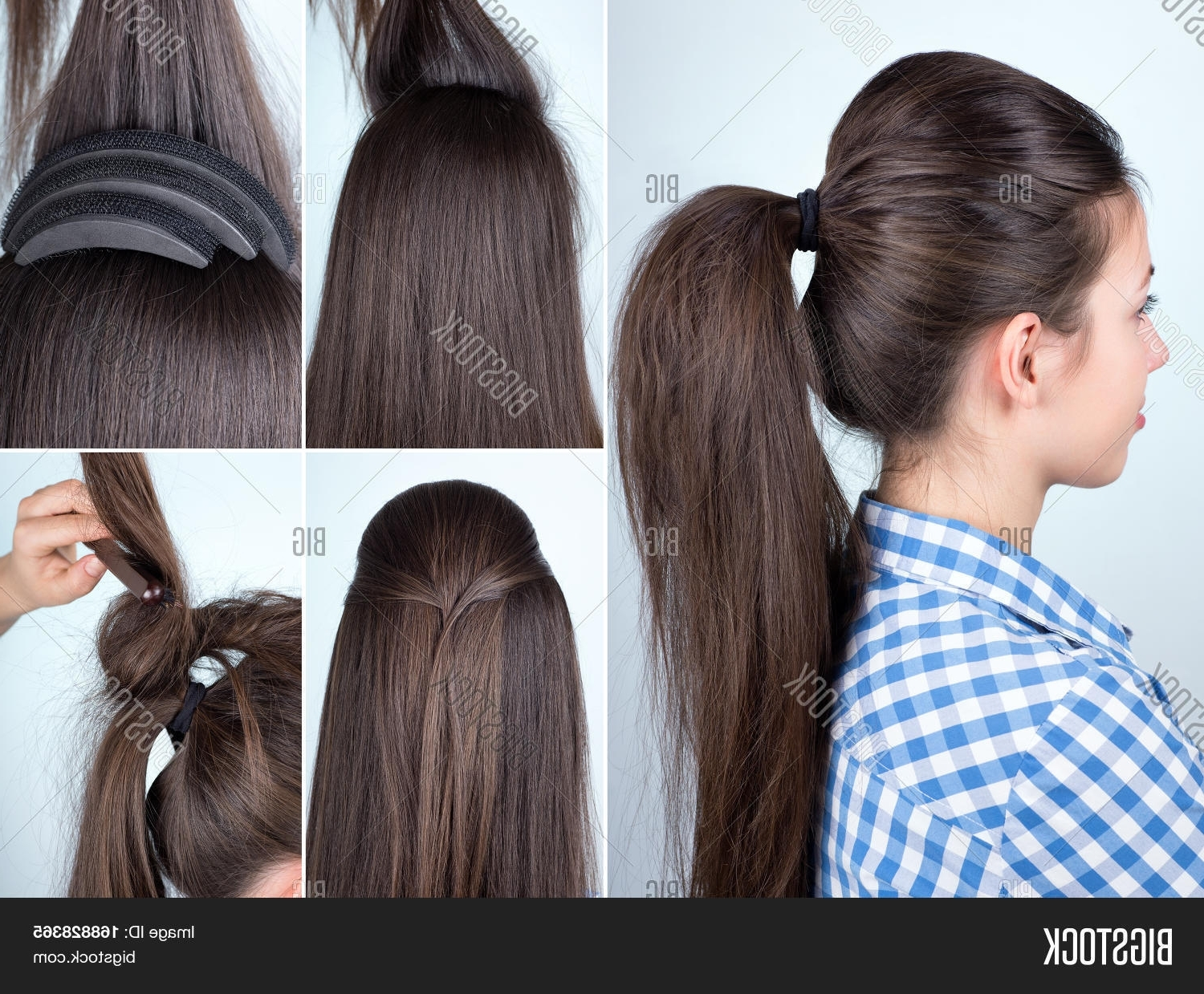 Bigstock Intended For Fashionable Bouffant Ponytail Hairstyles (View 6 of 20)