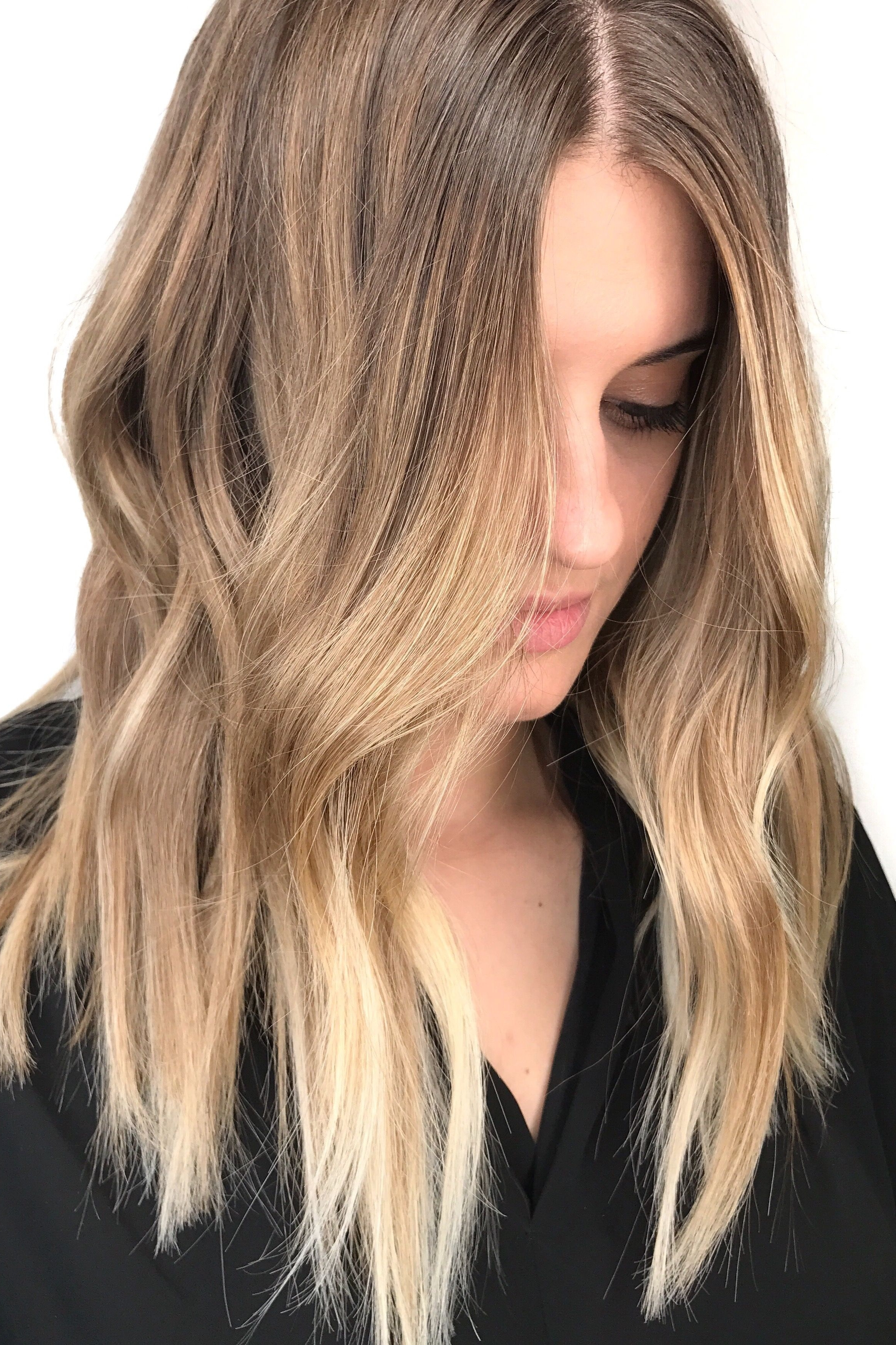 Blonde Balayage ; Natural Blonde Highlights ; Sun Kissed Hair Color Within Widely Used Sun Kissed Blonde Hairstyles With Sweeping Layers (View 4 of 20)