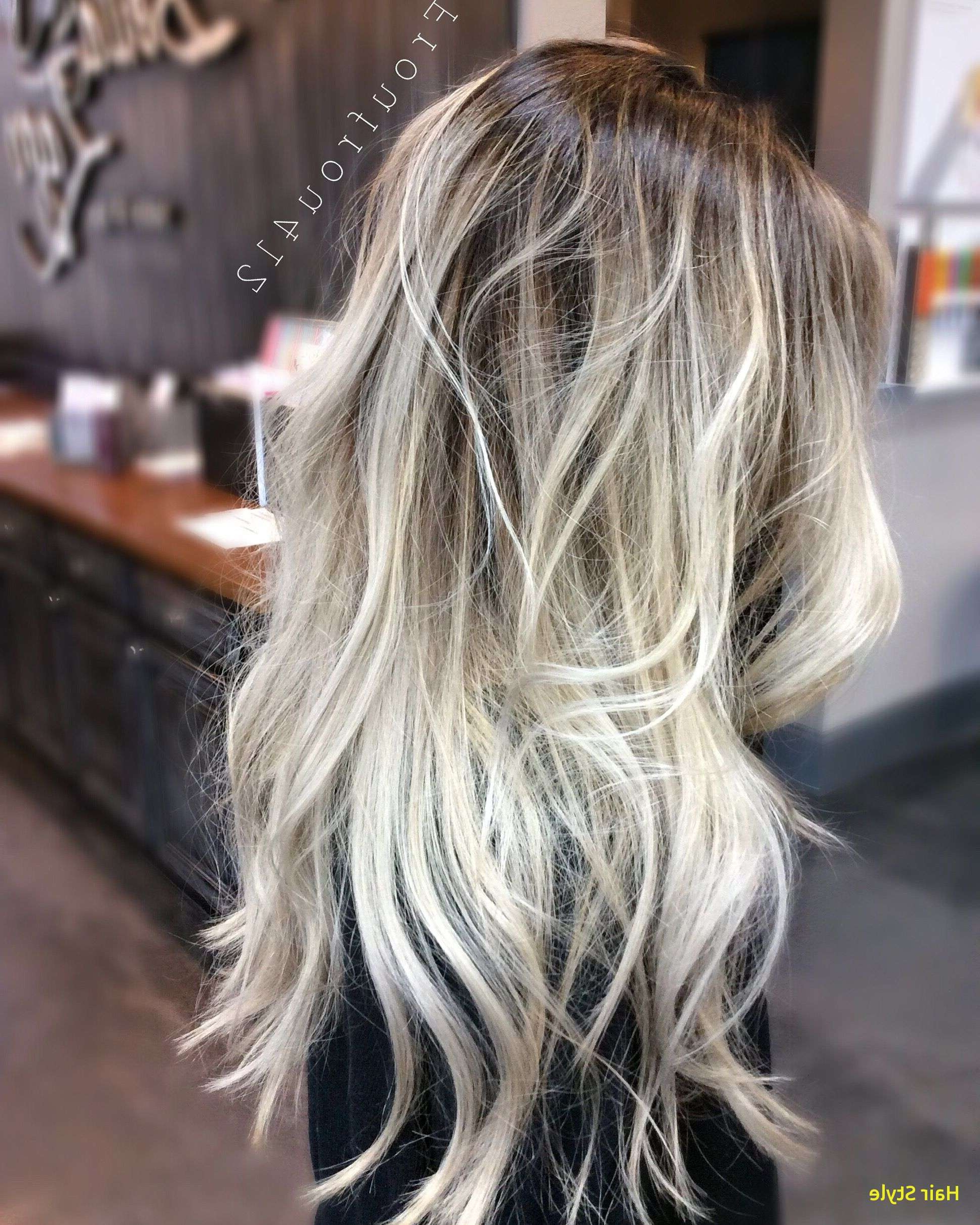Blonde Balayage With Dark Roots Unique Instagram Froufrou412 Or In Trendy Blonde Color Melt Hairstyles (View 5 of 20)