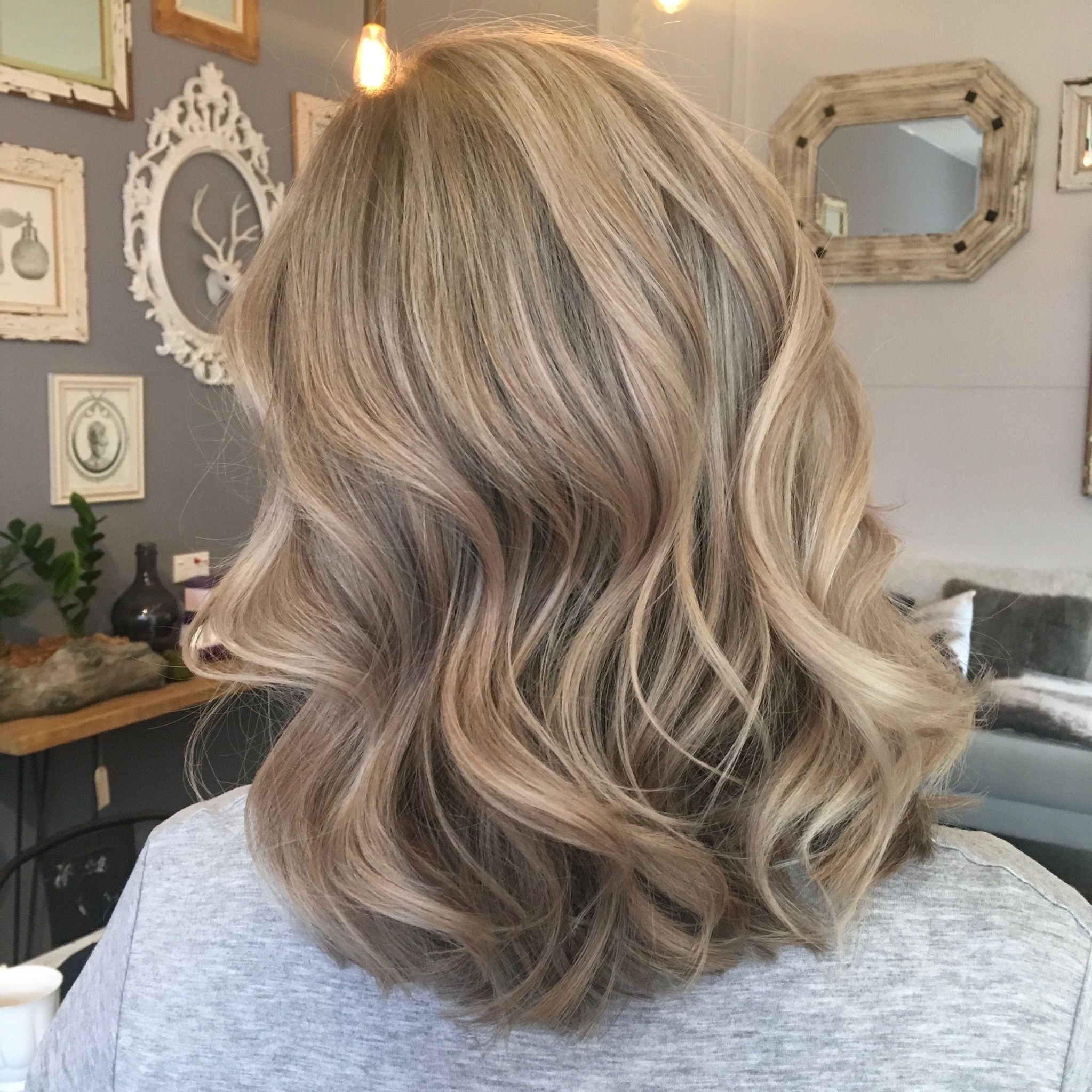 Blonde Blondes Bright Blondes Creamy Blondes Waves Style Ashy For Well Known Creamy Blonde Waves With Bangs (View 5 of 20)