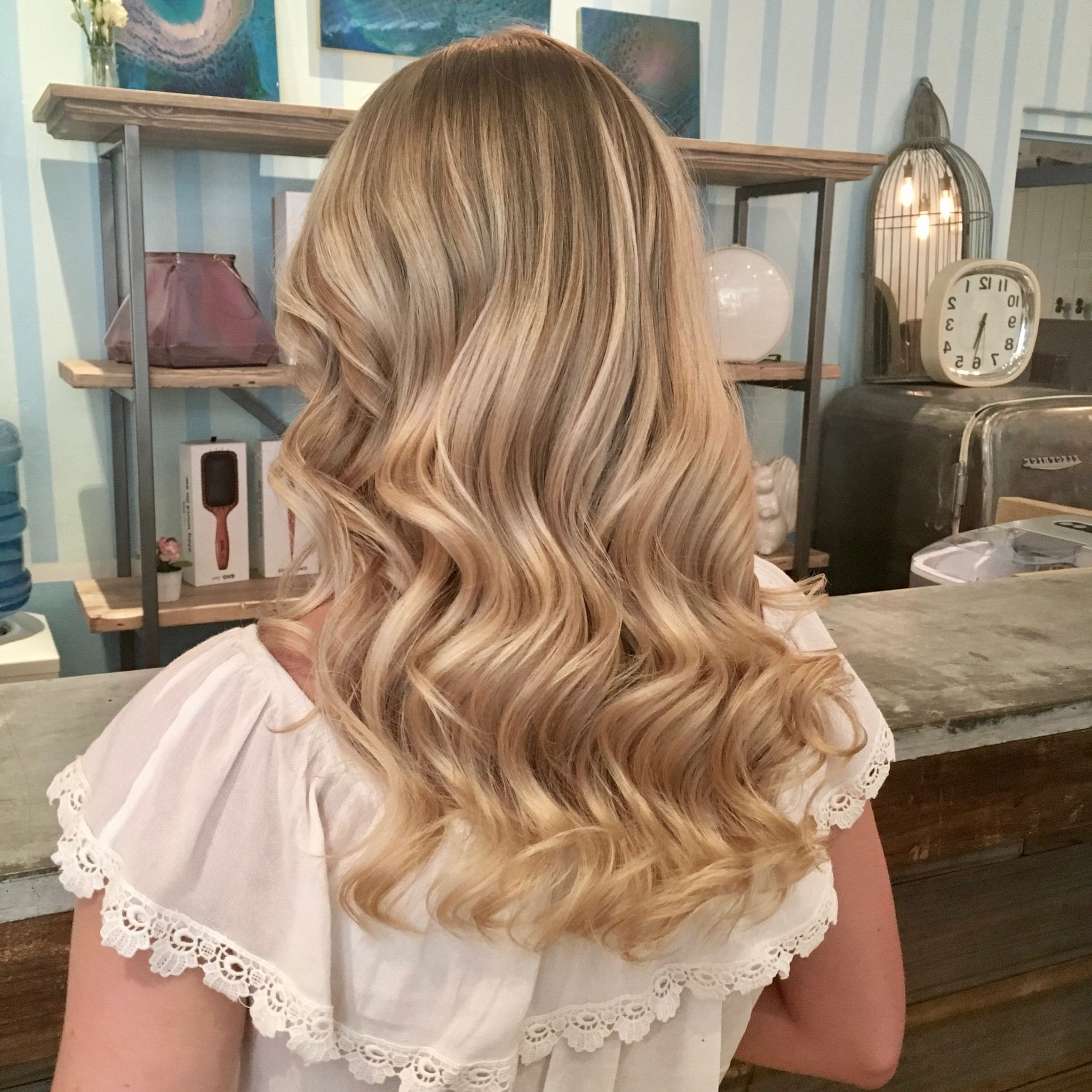 Blonde Blondes Bright Blondes Creamy Blondes Waves Style Ashy Within Latest Creamy Blonde Waves With Bangs (View 8 of 20)