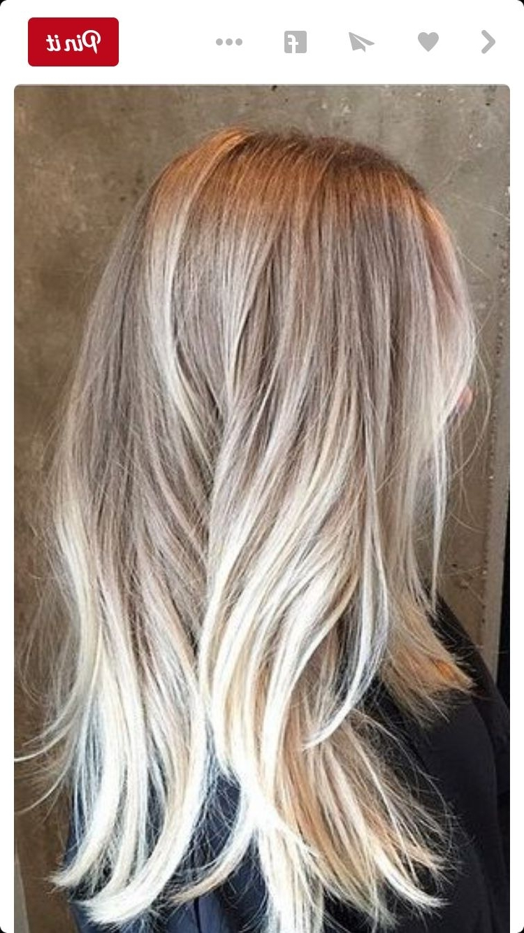 Blonde Color Regarding 2018 Blonde Color Melt Hairstyles (View 6 of 20)