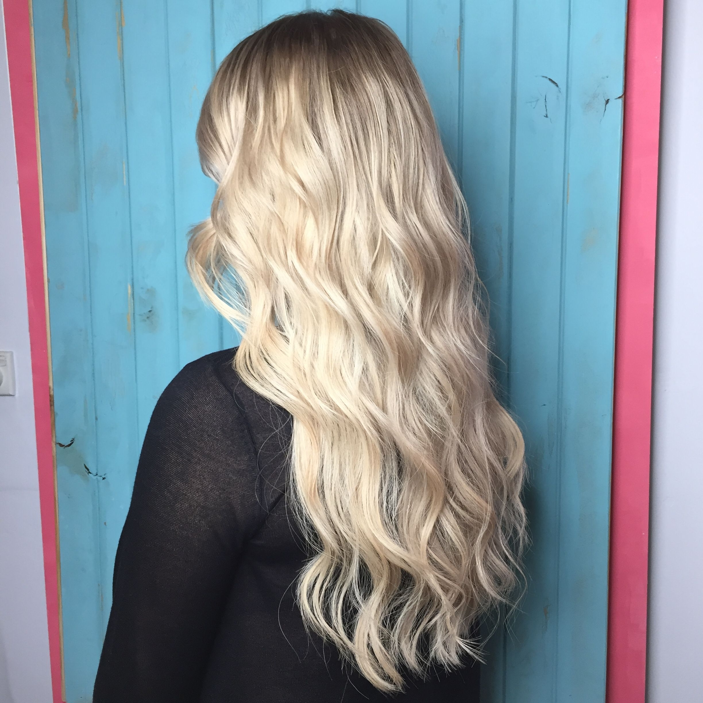 Blonde, Full Head Foils, Highlights, Lowlights, Creamy Blondes, Ashy Inside Fashionable Creamy Blonde Waves With Bangs (View 9 of 20)