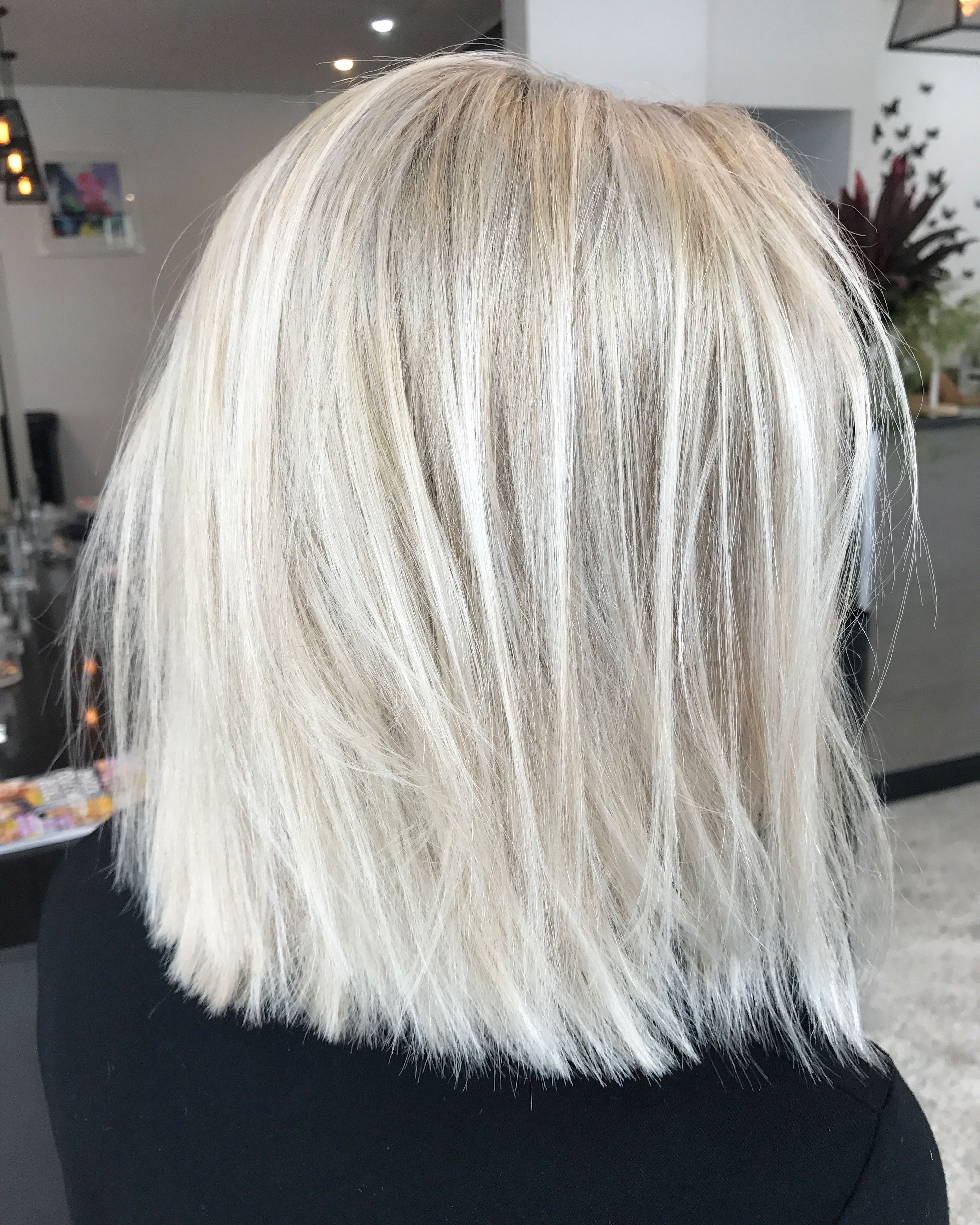 Blonde Lob Textured Short Hair Colour Lived In Hair Colour Cool Ash Inside Best And Newest Striking Angled Platinum Lob Blonde Hairstyles (View 7 of 20)