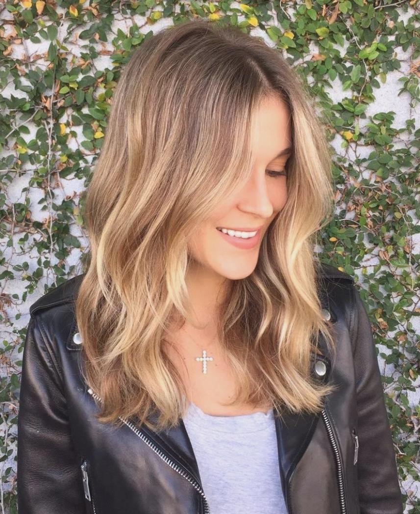 Blonde Medium Length Hair Medium Length Honey Blonde Hairstyles Intended For Most Recently Released Honey Blonde Hairstyles (View 7 of 20)