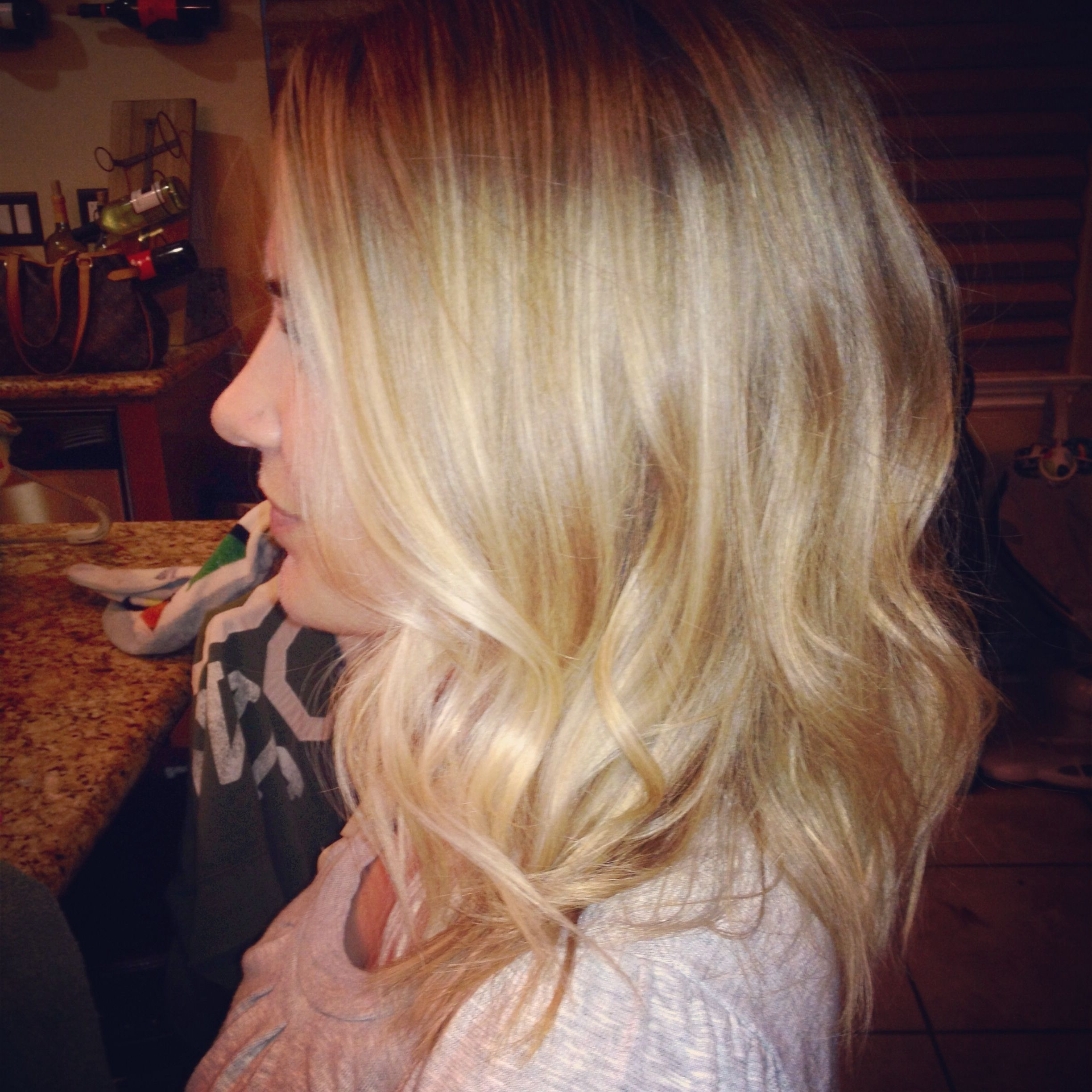Blonde Ombré Mid Length Beautiful Hair Loose Waves Lots Of Short Pertaining To 2017 Multi Tonal Mid Length Blonde Hairstyles (View 12 of 20)