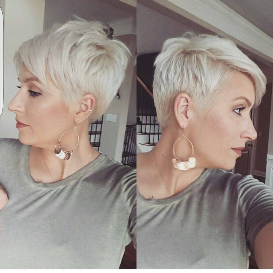 Blonde Pixie Inside Favorite Gray Blonde Pixie Hairstyles (View 9 of 20)