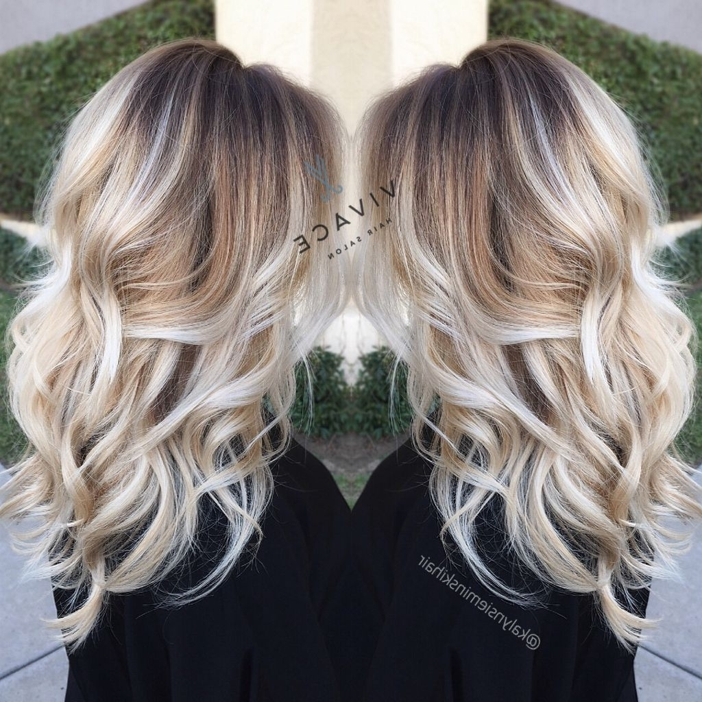 Blonde Regarding Trendy Balayage Blonde Hairstyles With Layered Ends (View 10 of 20)