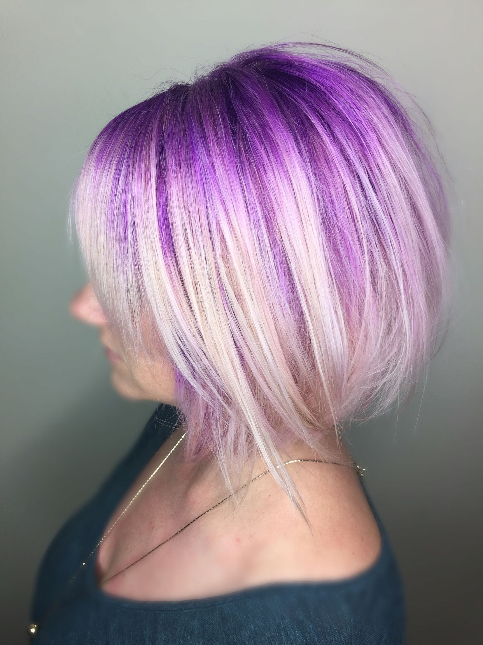 Featured Photo of Blonde Bob Hairstyles With Lavender Tint