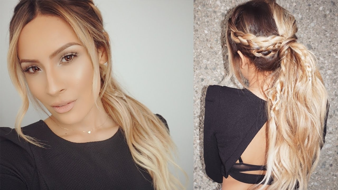 Bohemian Braid Hair Tutorial – Youtube With Preferred Messy Waves Ponytail Hairstyles (View 7 of 20)