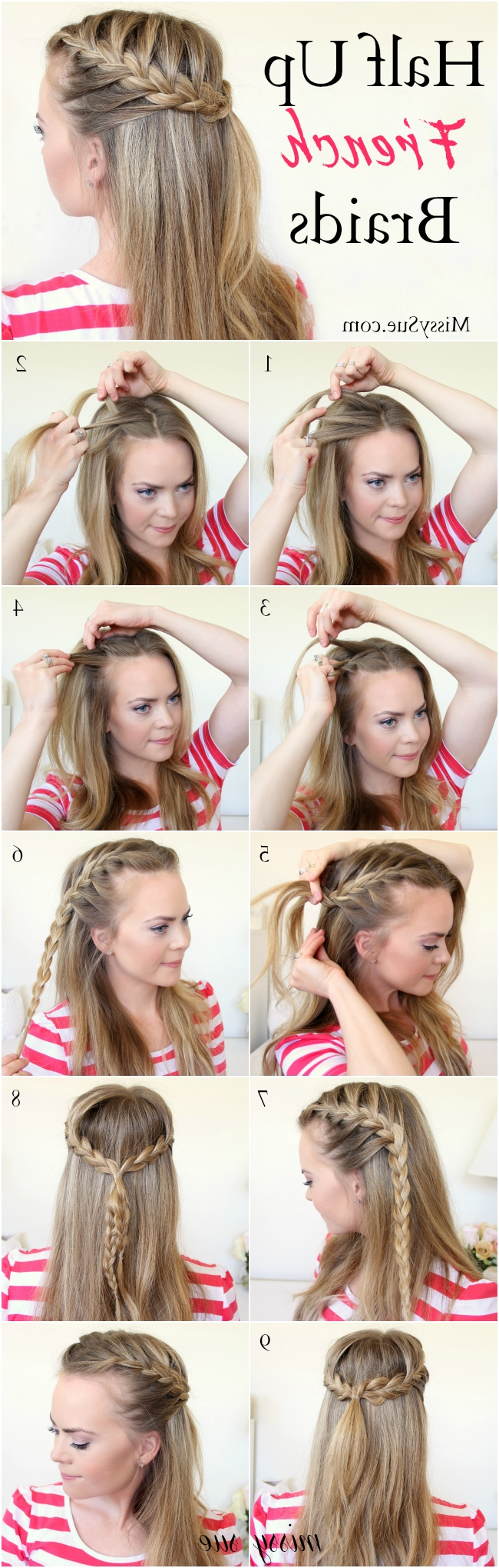 Braid 11 Half Up French Braids With Most Recent Half French Braid Ponytail Hairstyles (View 3 of 20)