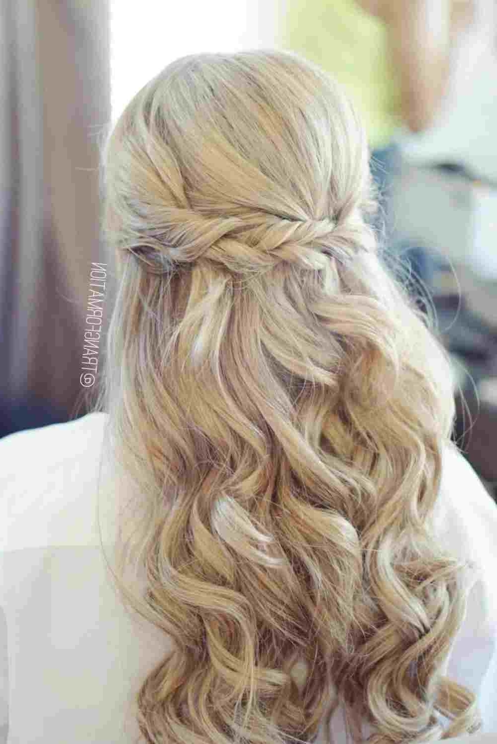 Braid Diy Bridesmaid Hairstyles Half Up Half Down With Braids Intended For Most Current Ash Blonde Half Up Hairstyles (View 8 of 20)
