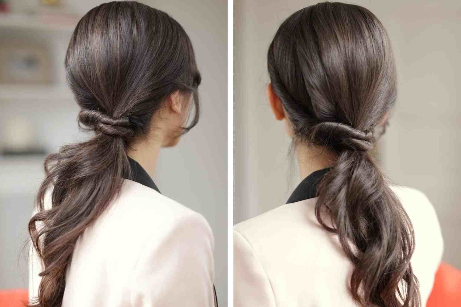 Braid Ponytail Youtuberhyoutubecom Wedding Hairstyles Messy Bridal Intended For Widely Used Twisted And Tousled Ponytail Hairstyles (View 4 of 20)