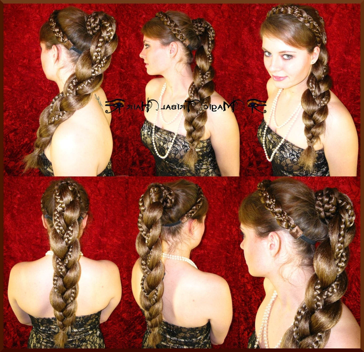 Braid Supersize Chignon Custom Color Wedding Hair Piece 20''/ 50Cm Intended For Trendy Stylish Supersized Ponytail Hairstyles (View 5 of 20)