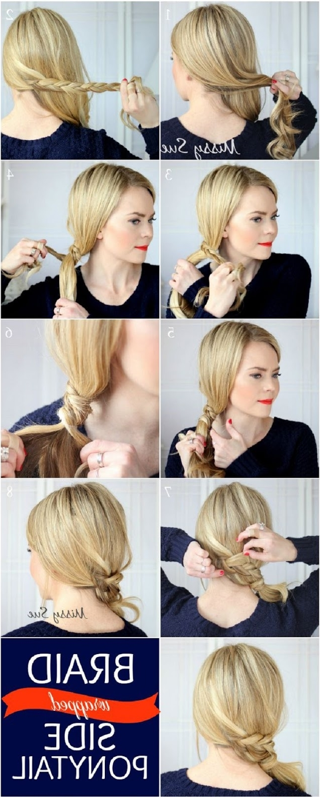Braid Tie Of Ponytail Hairstyles Stepstep ~ Entertainment News In Most Recent Double Tied Pony Hairstyles (View 18 of 20)