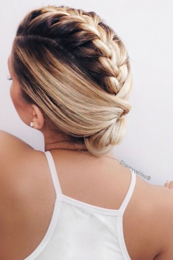 Braided Hairstyle, Braided Updo, French Braid Mohawk, Easy Pertaining To Latest Platinum Braided Updo Blonde Hairstyles (View 8 of 20)