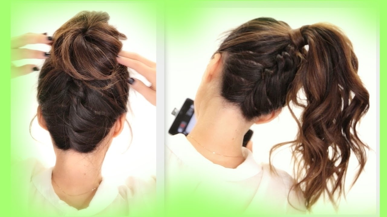 Braided Messy Bun Inside Favorite Pretty Messy Pony Hairstyles With Braided Section (View 17 of 20)