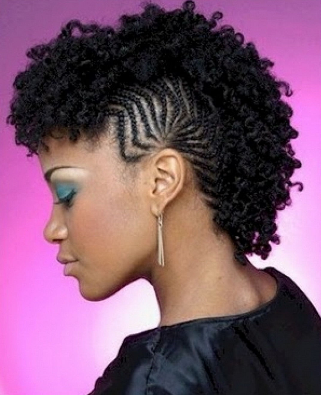 Braided Mohawk Hairstyles For Black Hair 2017 With How To Style Of Regarding 2018 Braided Hawk Hairstyles (View 6 of 20)