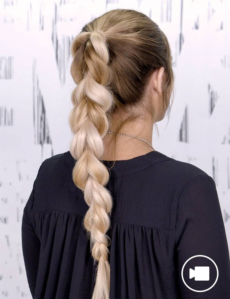 Braided Ponytail Hair Style For Women (View 7 of 20)