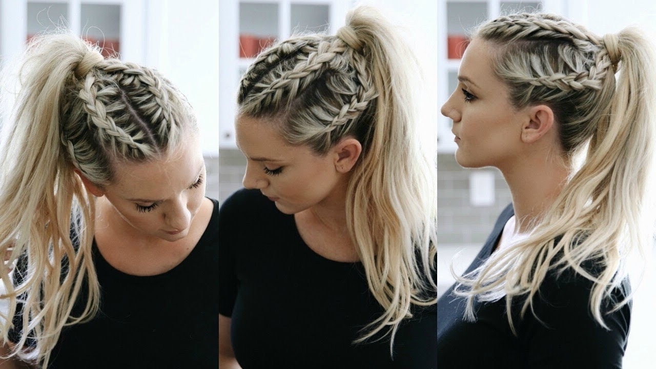 Braided Ponytail – Youtube In Popular Pony Hairstyles With Accent Braids (View 6 of 20)
