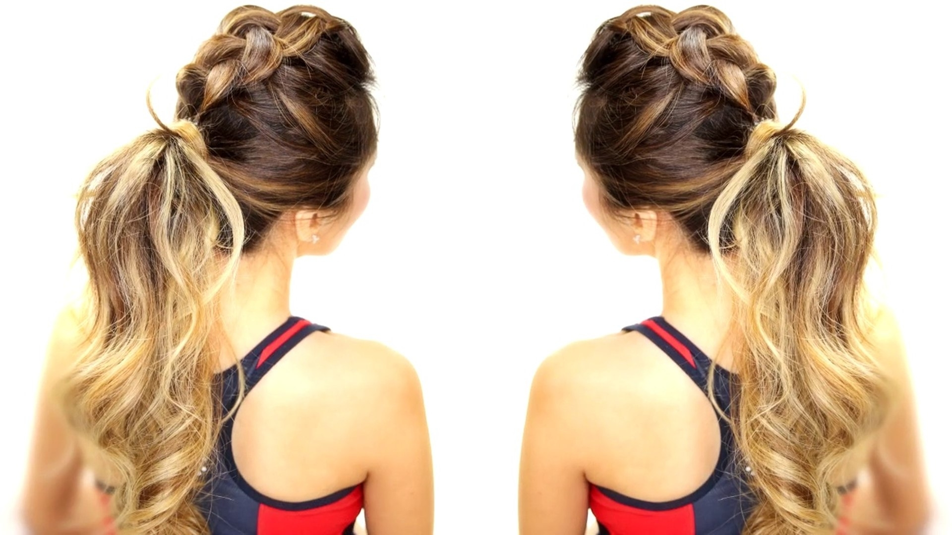 Braids Messy Bun Ponytail – Video (View 7 of 20)