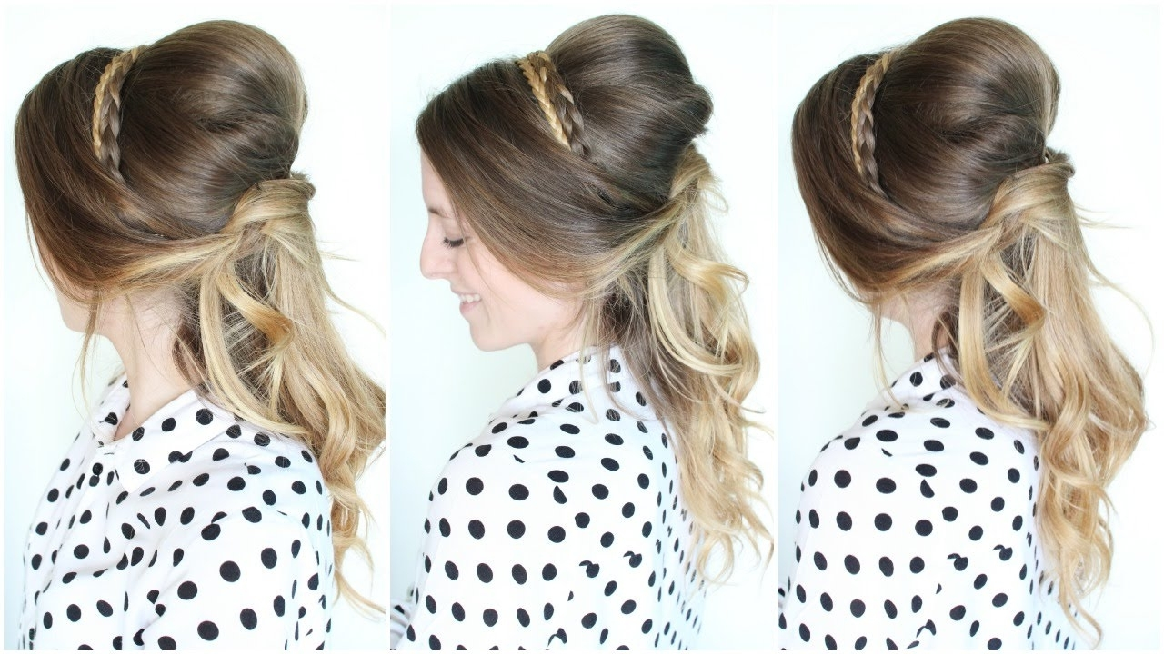 Braidsandstyles12 – Youtube Inside Most Popular Princess Tie Ponytail Hairstyles (View 7 of 20)