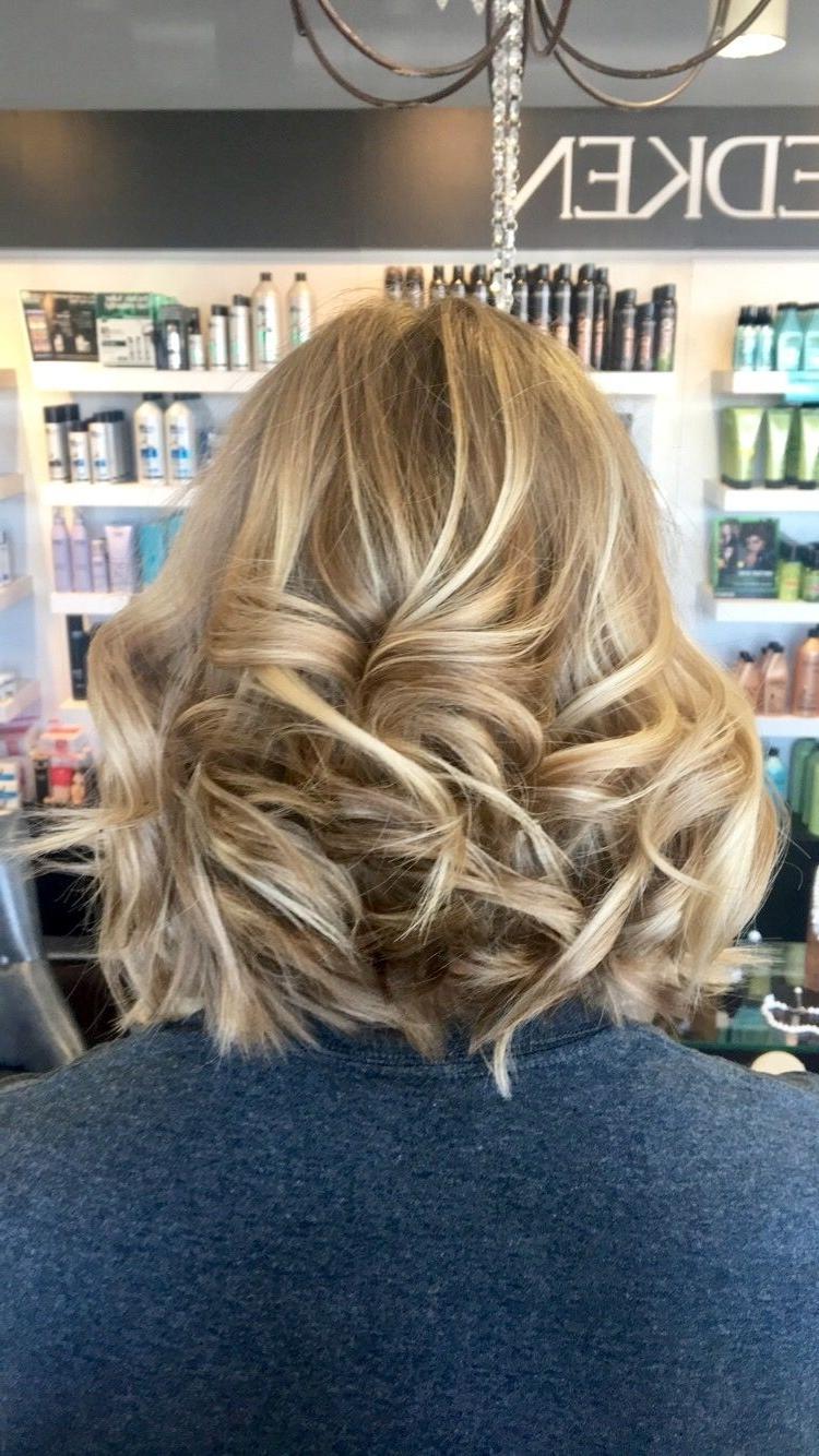 Bright Blonde Balayage And Long Bob Haircut (View 17 of 20)