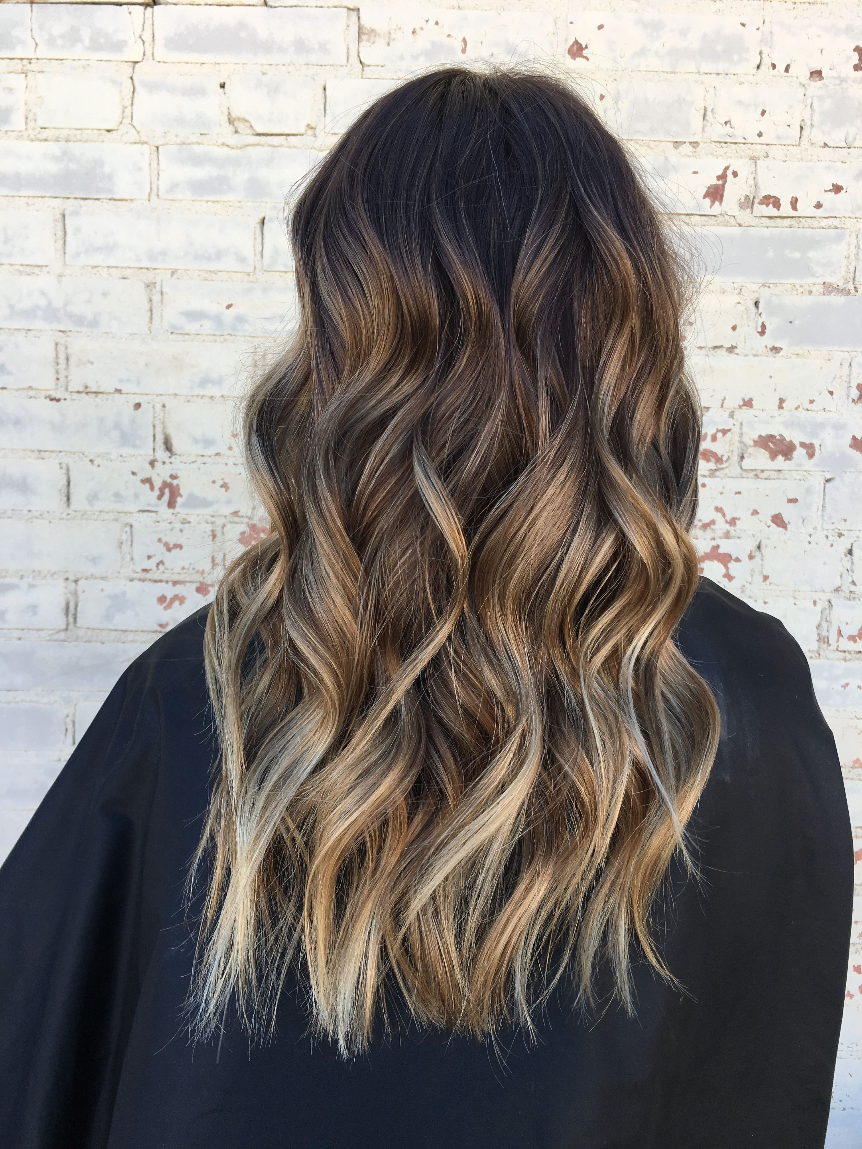 Brown Hair, Brown Balayage, Blonde Highlights, Loose Waves, Hair With Fashionable Dishwater Waves Blonde Hairstyles (View 8 of 20)