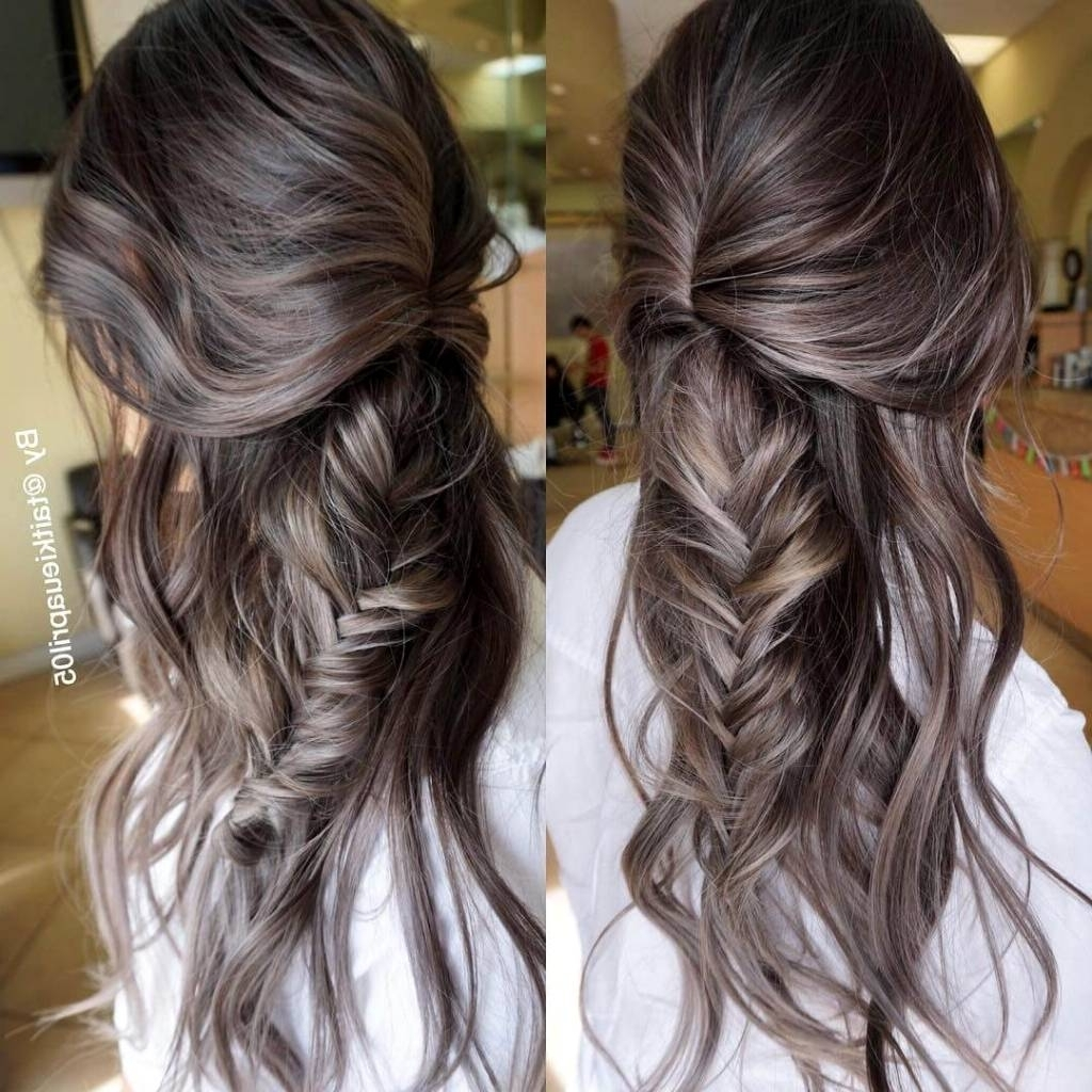 Brown Hair With Silver Highlights – Hairstylist (View 9 of 20)