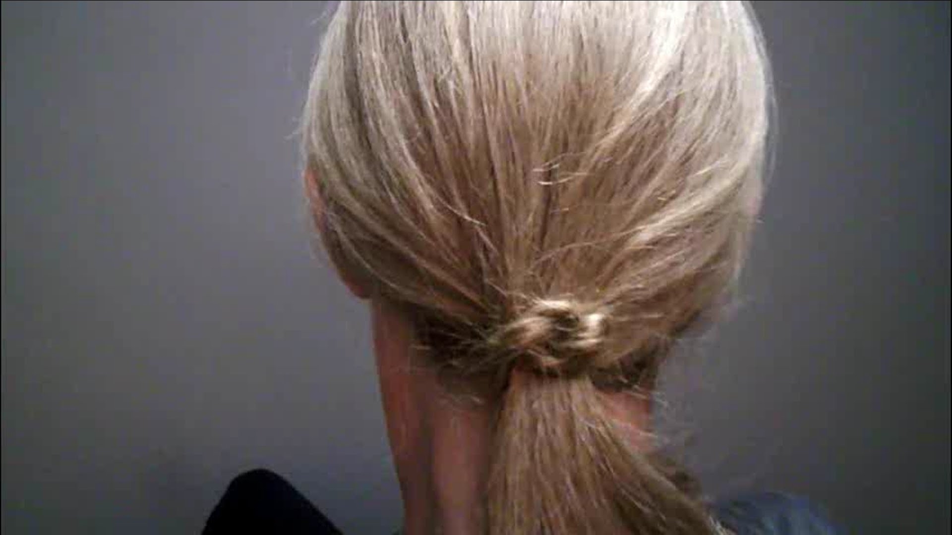 Center Knotted Ponytail Learn How To Braid Your Own Hair Beginner Pertaining To Well Known Knotted Ponytail Hairstyles (View 17 of 20)