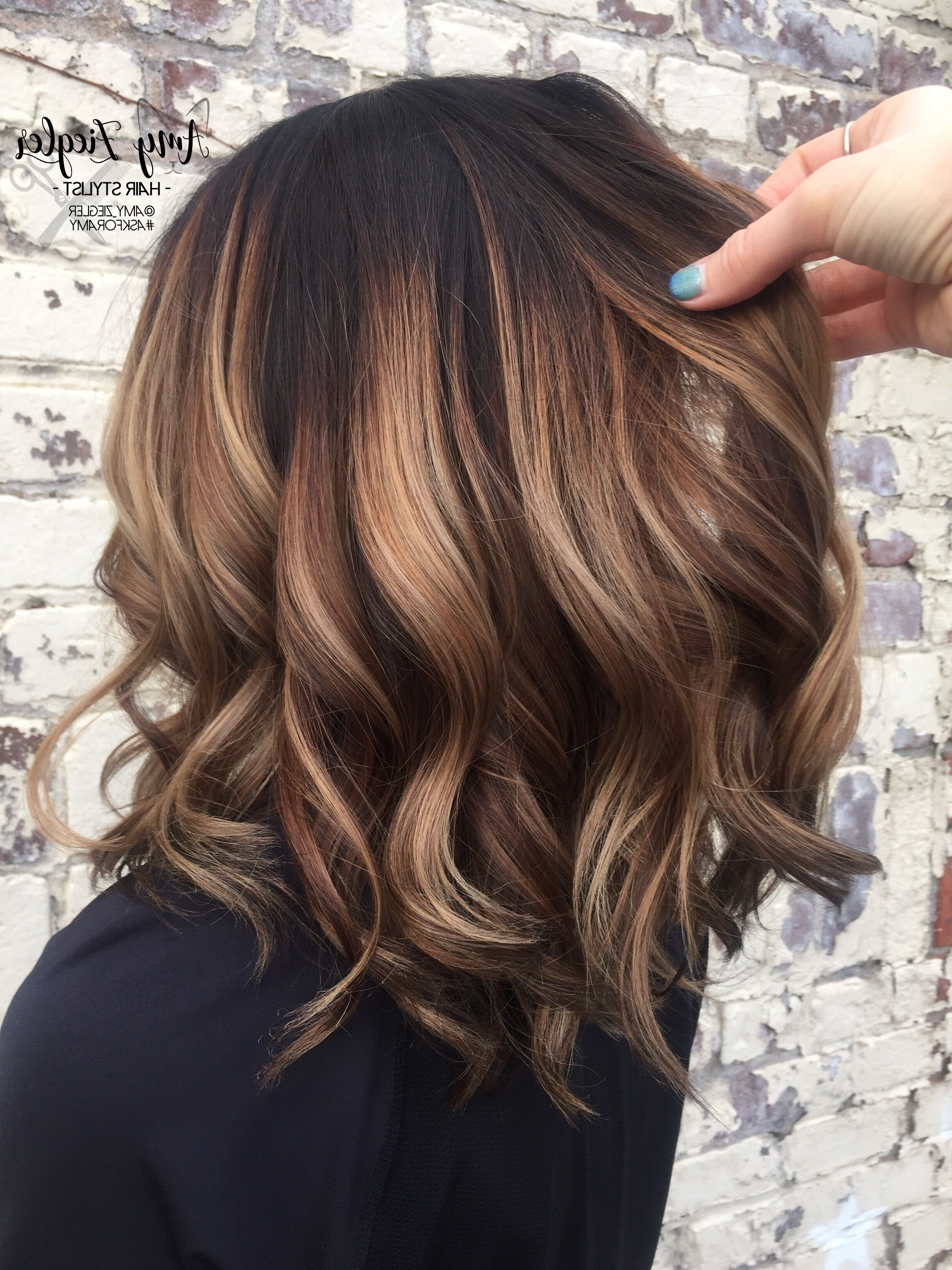 Chunky Blonde Balayage On Dark Hair@askforamy #askforamy Throughout Recent Shaggy Pixie Hairstyles With Balayage Highlights (View 9 of 20)