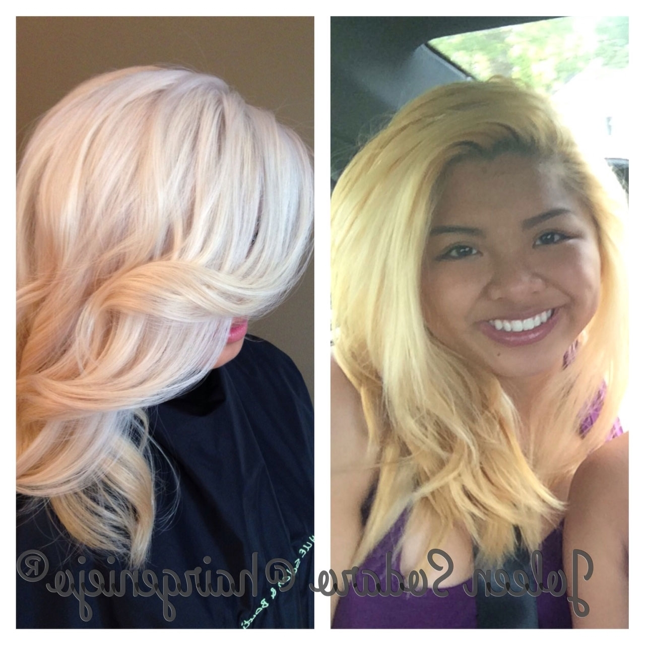 Color Correction: Brassy Mess To Level 10 Platinum Princess Pertaining To Preferred Pale Blonde Balayage Hairstyles (View 18 of 20)