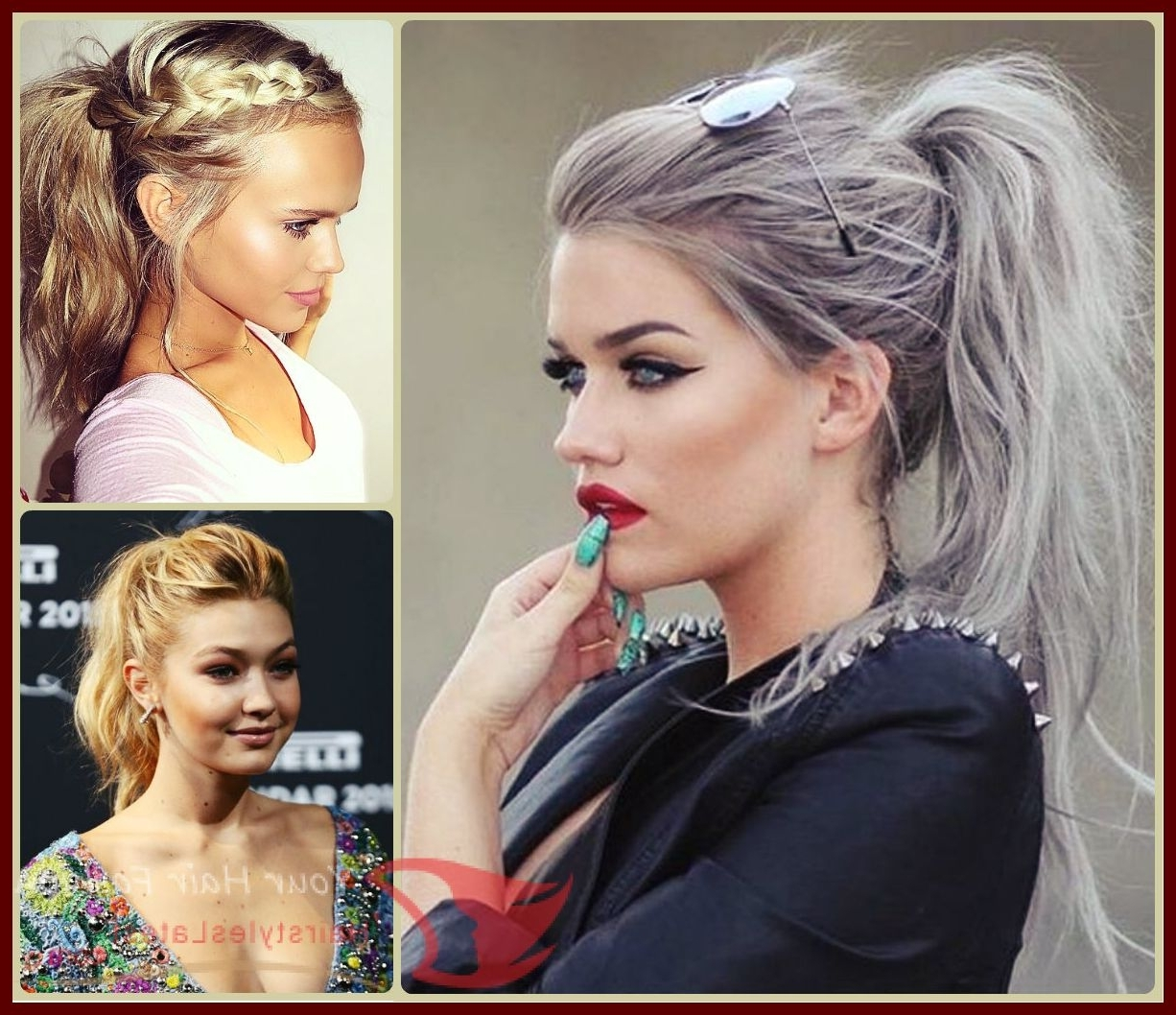Cool 25 Pretty Updo Hairstyles For Midi Hair 2016 , #formidihair In Popular Midi Half Up Half Down Ponytail Hairstyles (View 2 of 20)