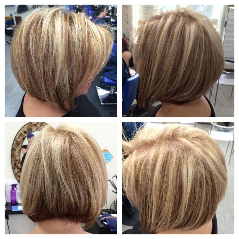 Cool Dark Blonde Color, Platinum Highlights, Angled Bob Haircut And With Popular Trendy Angled Blonde Haircuts (View 9 of 20)